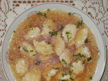 Rosół z indyka z kluskami biszkoptowymi