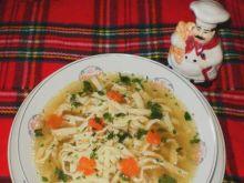 Rosół z  makaronem wg Babcigramolki