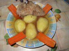 Rosół z żeberek z ziemniakami