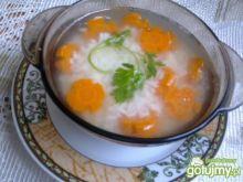 Rosołek z ryżem i marchewką
