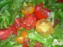 Roszponka z pomidorkami koktajlowymi