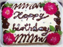 Różany torcik urodzinowy