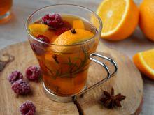 Rozgrzewająca herbata malinowo-pomarańczowa