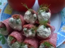 Rożki z salami z farszem