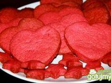 Różowe  ciasteczka serduszka
