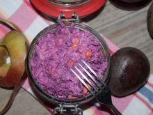 Rubinowa sałatka z buraków kiszonych