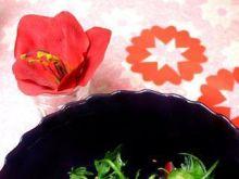 Rukola w miodowo imbirowym sosie z chili