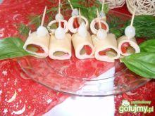 Ruloniki  z sera i szynki