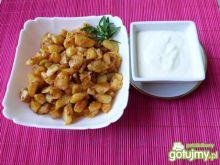 Rumiane ziemniaki z kolendrą