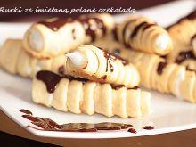 Rurki ze śmietaną i czekoladą
