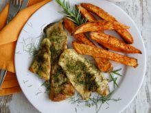 Ryba koperkowo – musztardowa z batatami