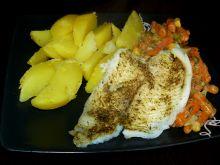 Ryba na parze wśród warzyw