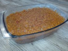 Ryba po grecku z pomidorami, papryką i patisonem