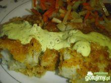 Ryba w panierce z sosem cytrynowym