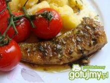 Ryba w sosie maślanym z pomidorkami