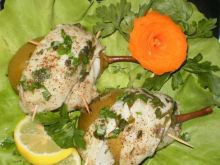 Ryba z gruszką  z parowaru