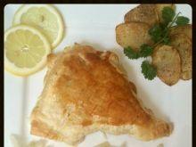 Ryba z kapustą w cieście francuskim