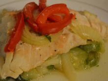 Ryba z warzywami w papilotach