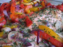 Ryba zapiekana z papryką.