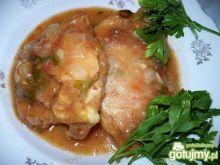 Ryba zasmażana z dodatkiem sosu