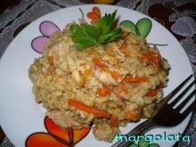 Ryż a'la risotto z kurczakiem z rosołu