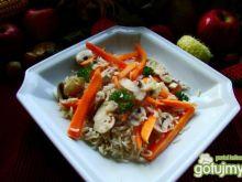 Ryż basmatti z marchewką i pieczarkami