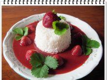Ryż Eli z musem truskawkowym