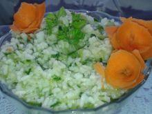 Ryż gotowany z startym ogórkiem zielonym