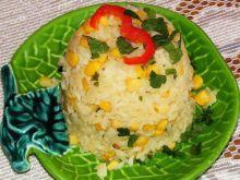 Ryż imbirowy z kukurydzą :