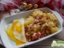Ryż jaśminowy z ananasem i szynką