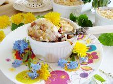 Ryż na słodko z kwiatami mniszka
