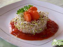 Ryż naturalny z salsą łowicką