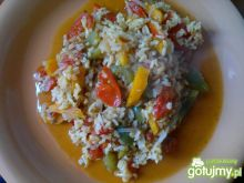 Ryż naturalny z warzywami z patelni