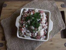 Ryż po chłopsku z kiełbasą i pieczarkami
