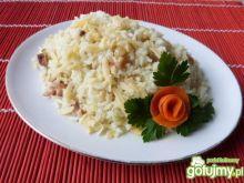 Ryż z boczkiem i żółtym serem