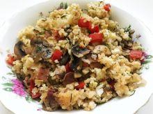 Ryż z boczkiem, papryką i pieczarkami