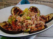 Ryż z brokułami, tuńczykiem i bakłażanem