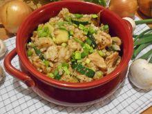 Ryż z cukinią, pieczarkami i kurczakiem