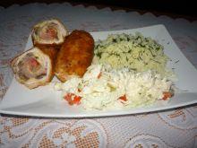 Ryż z filetem i sałatką