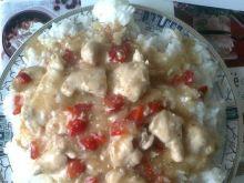 Ryż z indykiem i papryką