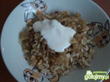Ryż z jabłkami i cynamonem 3