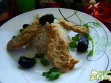 Ryż z kotletami sojowymi