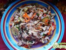 Ryż z kurczakiem i pieczarkami
