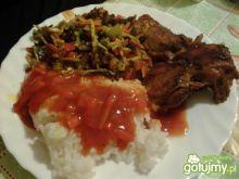 Ryż z kurczakiem i warzywami 2
