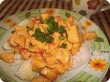 Ryż z kurczakiem w sosie śmietanowym