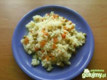 Ryż z marchewką i groszkiem 3