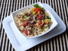 Ryż z mięsem i papryką