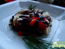 Ryż z oliwkami i fasolą czerwoną