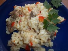 Ryż z papryką i mięsem