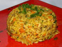 Ryż z pieczarkami